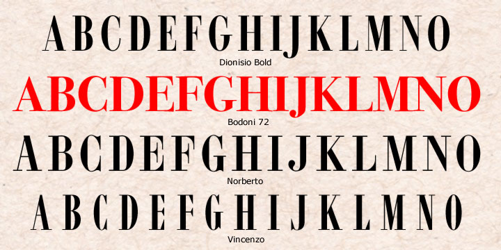 CastleType Moderns with Bodoni